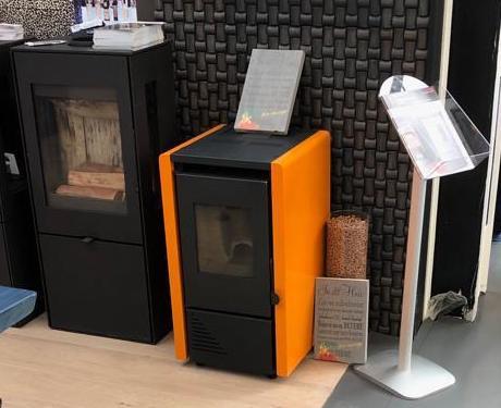 Moderne oranje pelletkachel | Ecofire