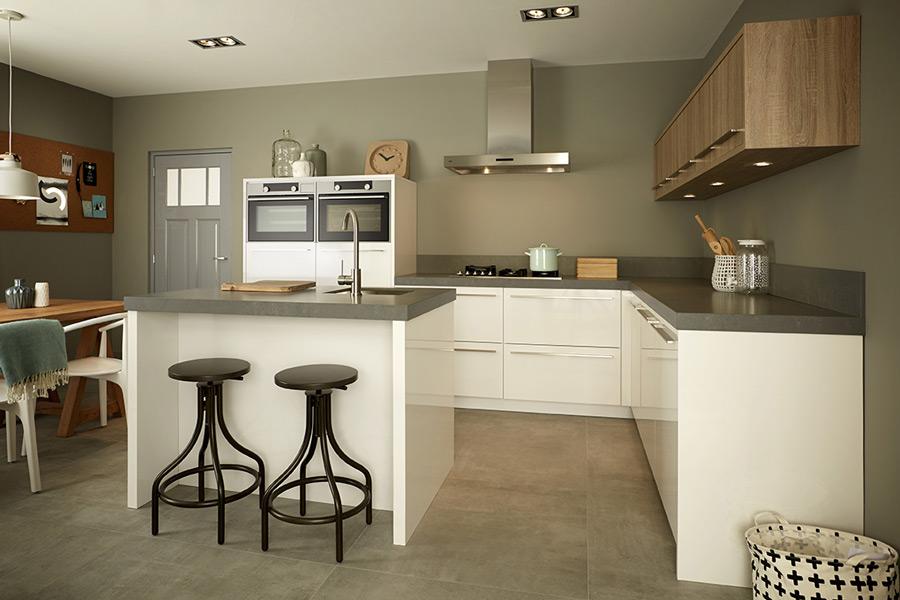 Een keukeneiland past in ieder interieur