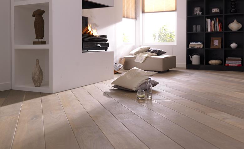 Eiken houten vloer white wash bax houthandel product in beeld