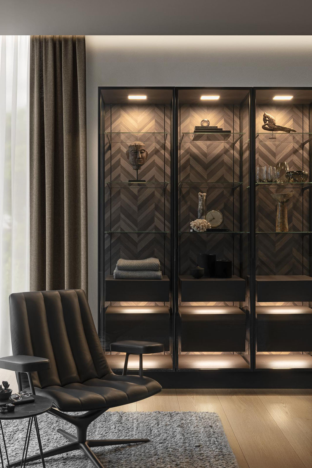 Exclusieve vitrinekasten SieMatic Pure SLX