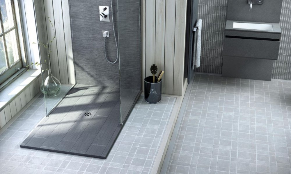 Fiora doucheplaten silex rustica collection product in for Fiora salle de bain