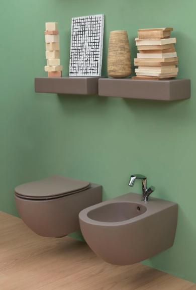 Bidet toilet in trendy mokka