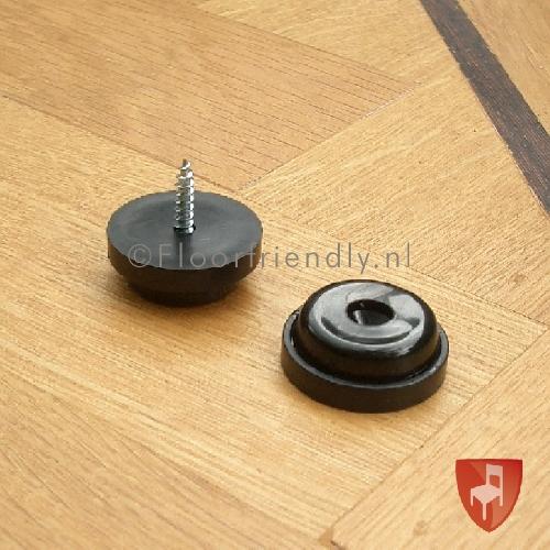 Floorfriendly anti-slipdop met schroef voor stoel of bank