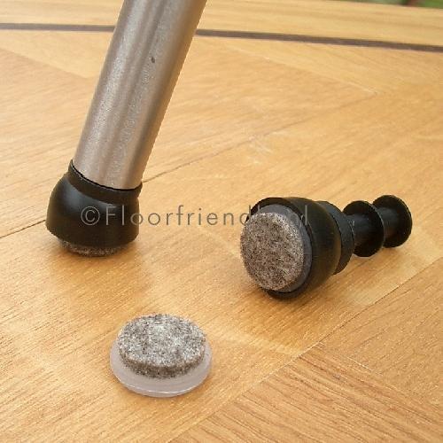 Floorfriendly viltglijder voor schuine stoelpoot