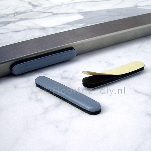 Floorfriendly vloer beschermende teflonglijder voor plat buisframe