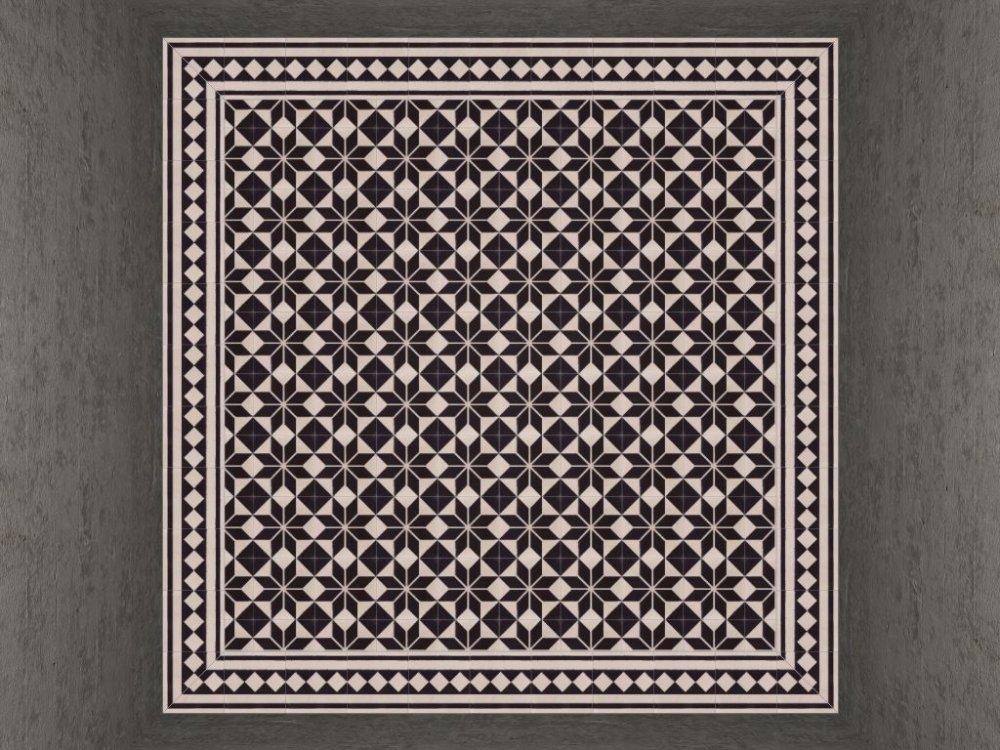 FLOORZ-Cementtegels ASTREA zwart wit