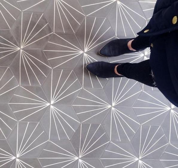 FLOORZ- Hex cementtegels serie HEXA STRIPEZ 01