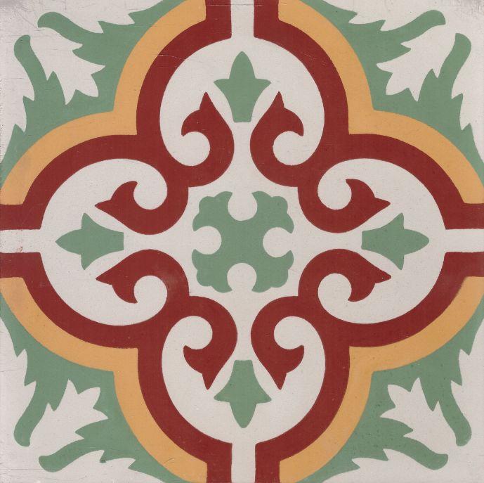 FLOORZ- Marokkaanse tegels groen serie FEZ 05