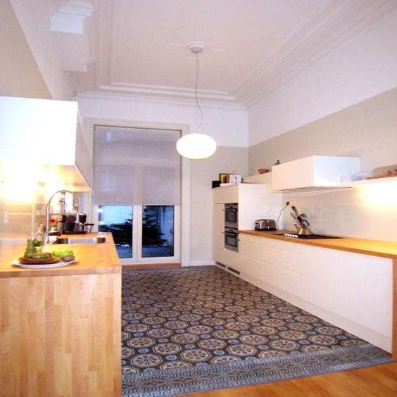 Ouderwetse wandtegels tijdens de verbouwing van ons toilet wilden we graag iets extraus als - Moderne keuken in het oude huis ...