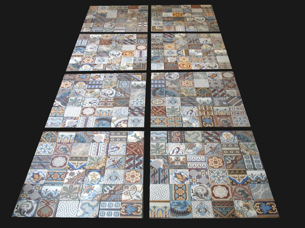 floorz patchwork portugese cementtegels living colorz product in