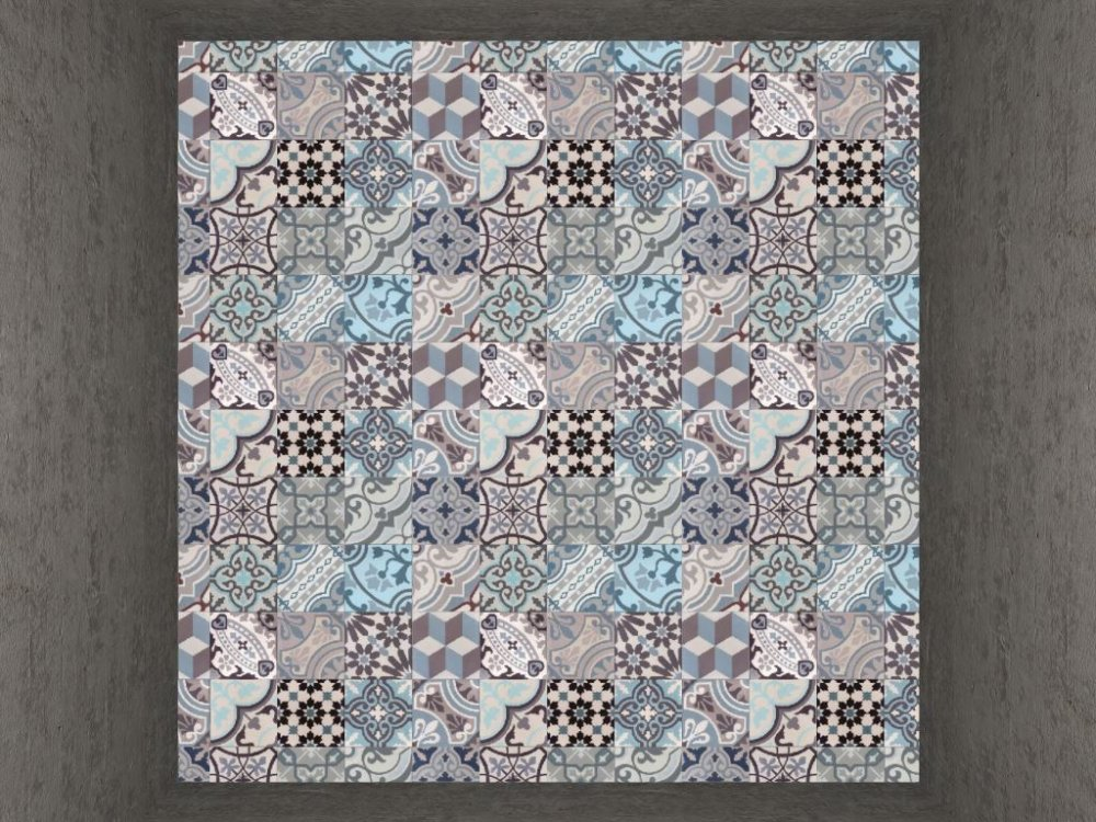 FLOORZ-Portugese cementtegels Patchwork Kind of Blue