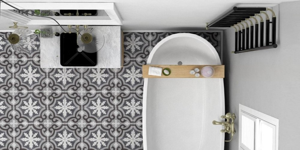 Floorz portugese tegels badkamer product in beeld startpagina voor vloerbedekking idee n - Waterafstotend badkamer ...