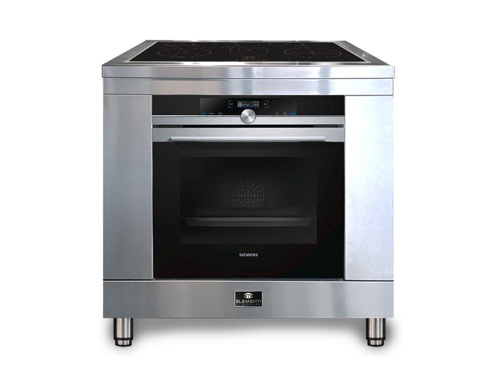 RVS fornuis inductiekookplaat 90cm | Elementi di Cucina