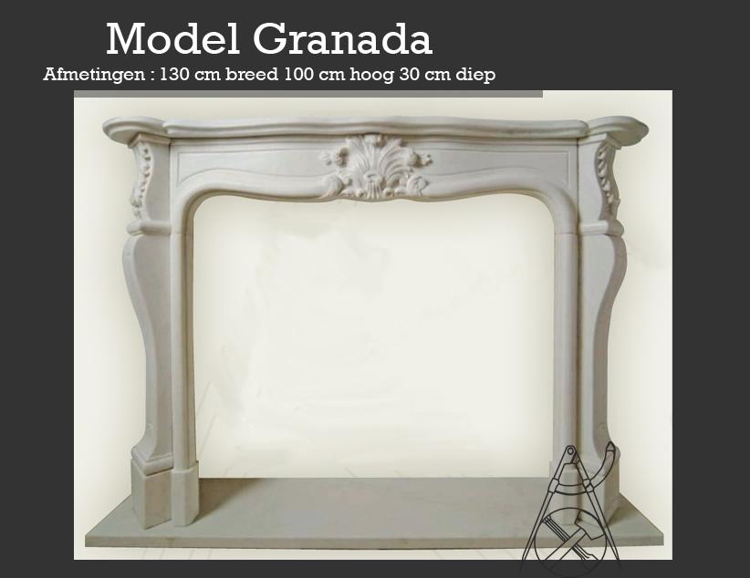France Artisanat marmeren schouw Granada