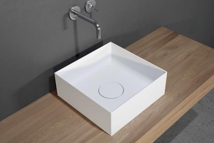 Vierkante waskom solid surface