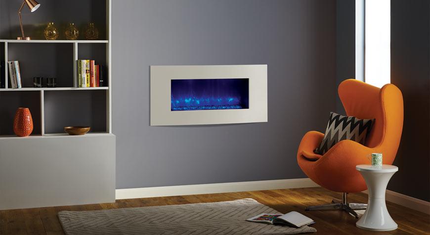 Elektrische inbouwhaard met frame | Gazco