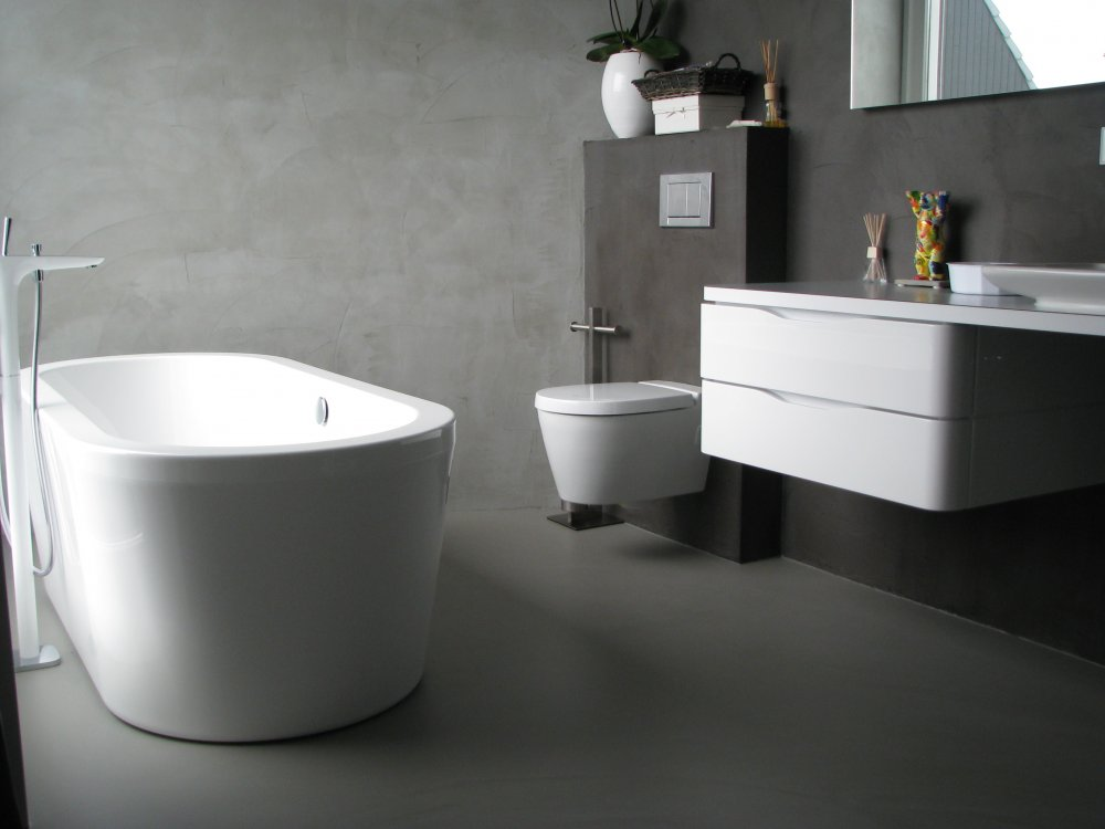 Gietvloer Badkamer Douche : Gietvloer in badkamer product in beeld startpagina voor