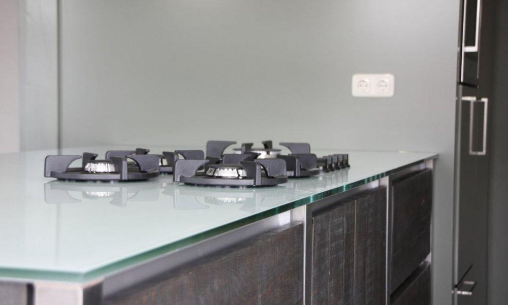 Glazz hoogglans werkbladen van glas