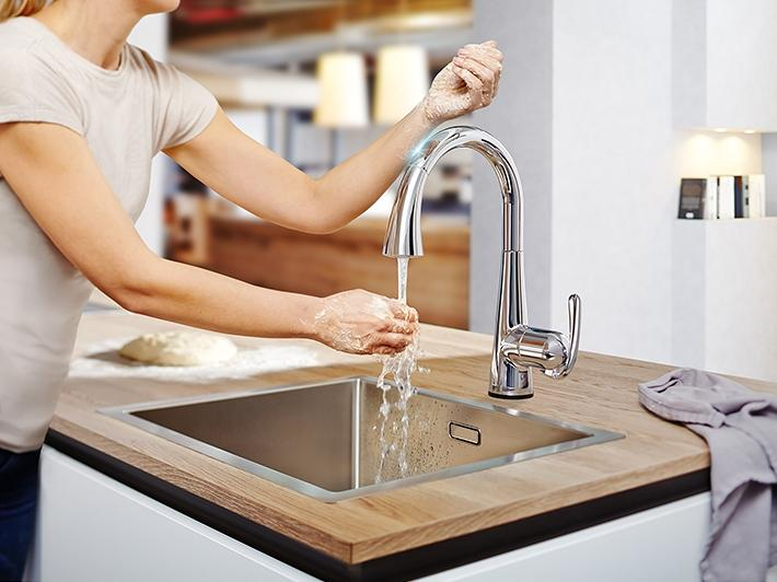 Keukenkraan met touch bediening
