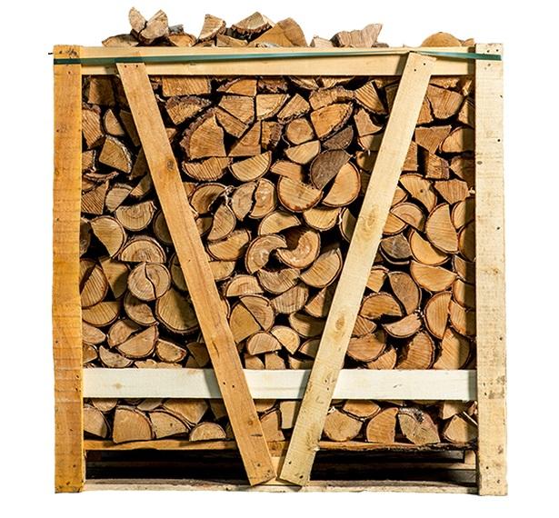 Halve pallet ovengedroogd berkenhout