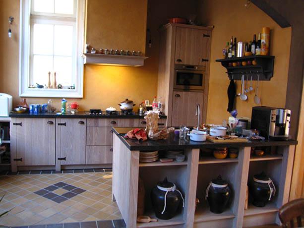 Handgemaakte houten keuken Atelier de Zonnevlecht