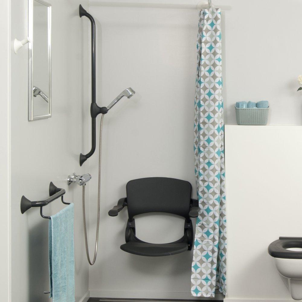 Linido aangepaste badkamer in trendy antraciet