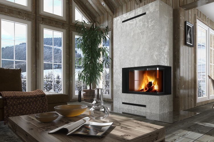 Tweezijdige inbouwhaard | Heat Impression