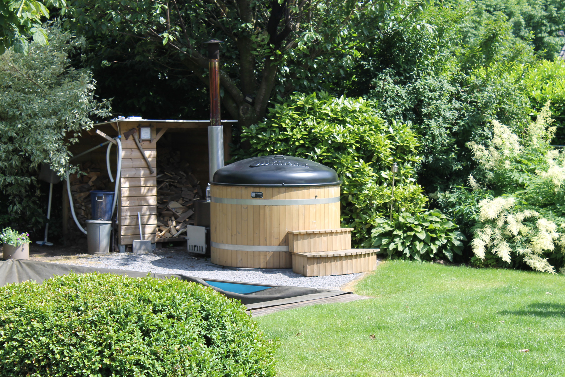 Finse houten hottub Thermowood hout