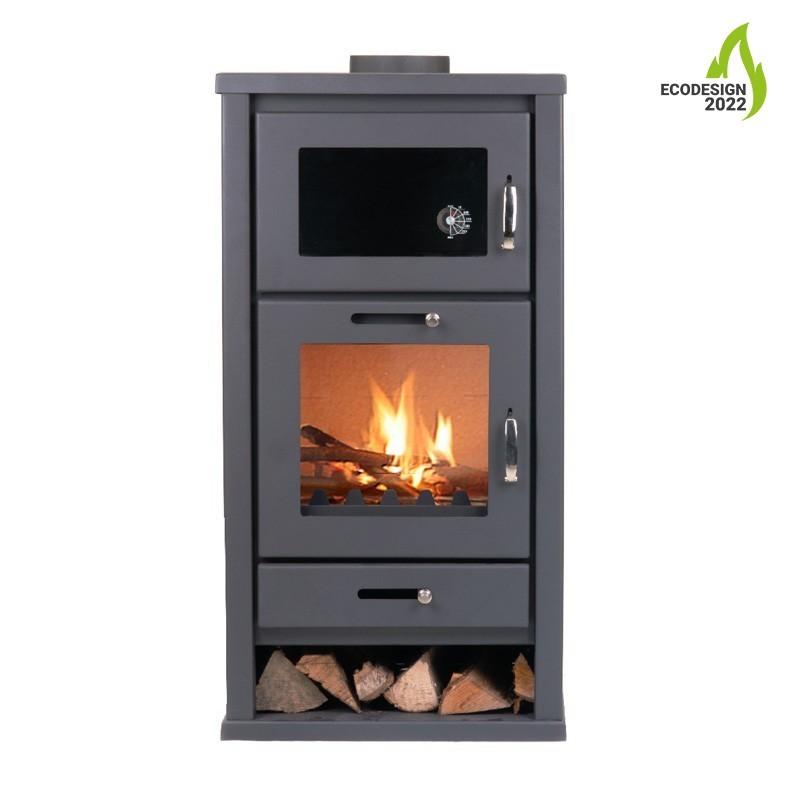 Houtkachel met oven Karlstad | Livin' Flame