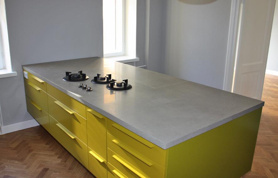 ABK InnoVent | i-Cooking gasbranders in betonnen werkblad