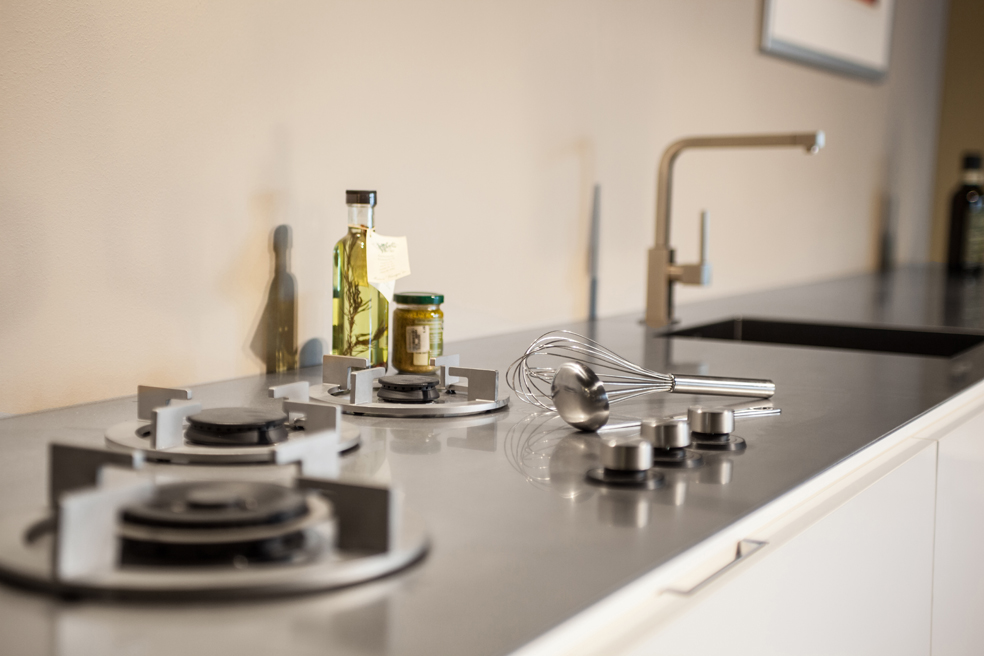 ABK InnoVent | i-Cooking gasbranders in 4 mm RVS werkblad