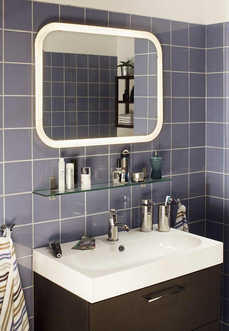 Ikea spiegel met led-verlichting STORJORM