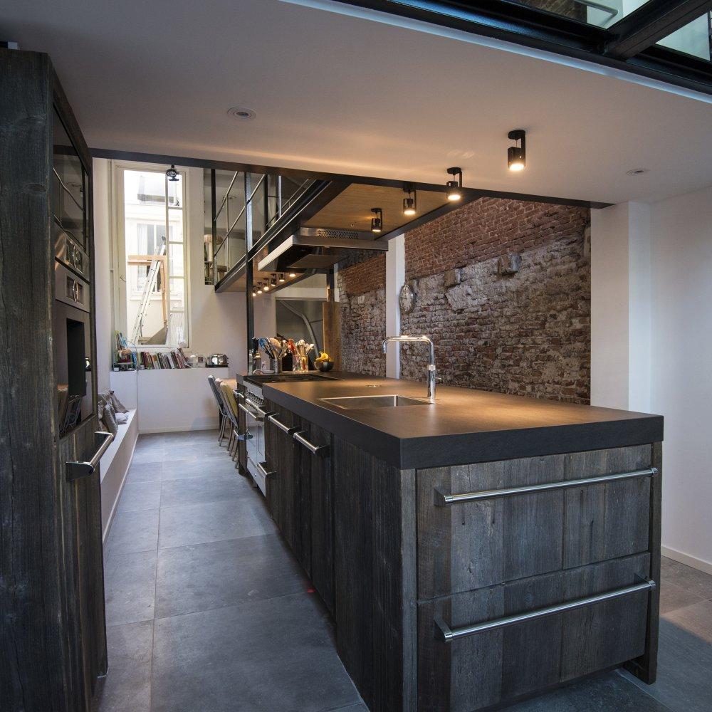 Industri le barnwood keuken van restylexl product in beeld startpagina voor keuken idee n - Deco keuken oud land ...