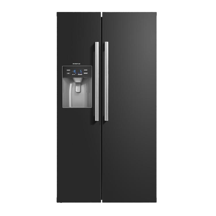 Zwarte Amerikaanse koelkast   Inventum