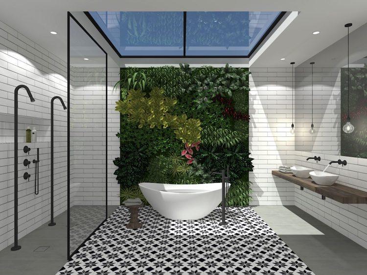 Elegant vrijstaand design bad