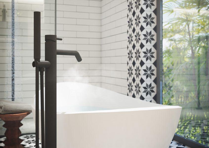 Zwarte vrijstaande badkraan | JEE-O