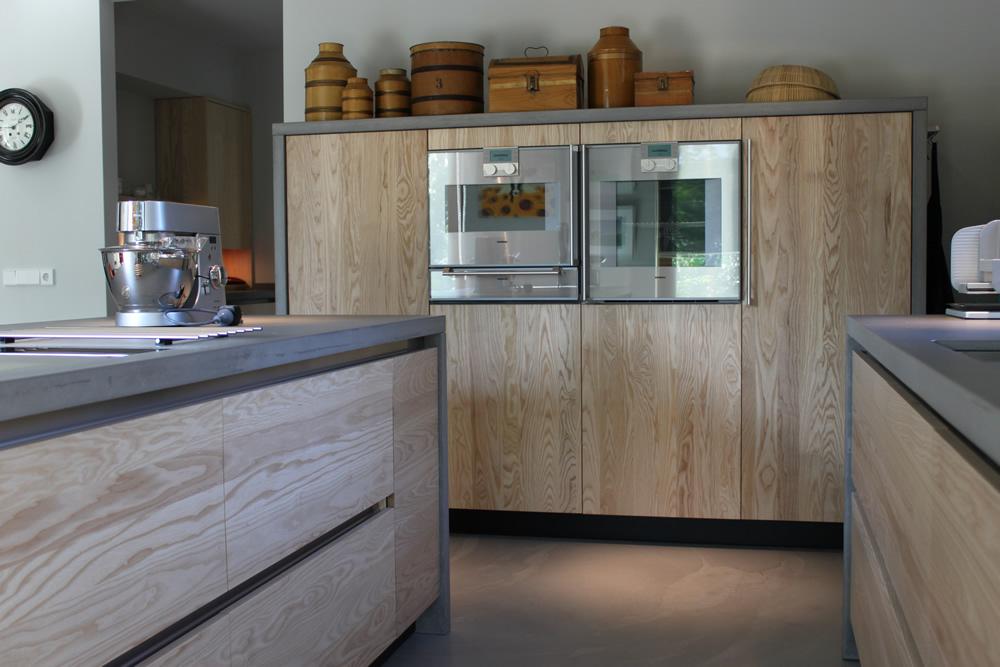 JP Walker houten keuken modern essen en beton