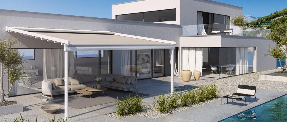 Jumbo terrasoverkapping aluminium product in beeld startpagina voor tuin idee n uw - Een terras aan het plannen ...