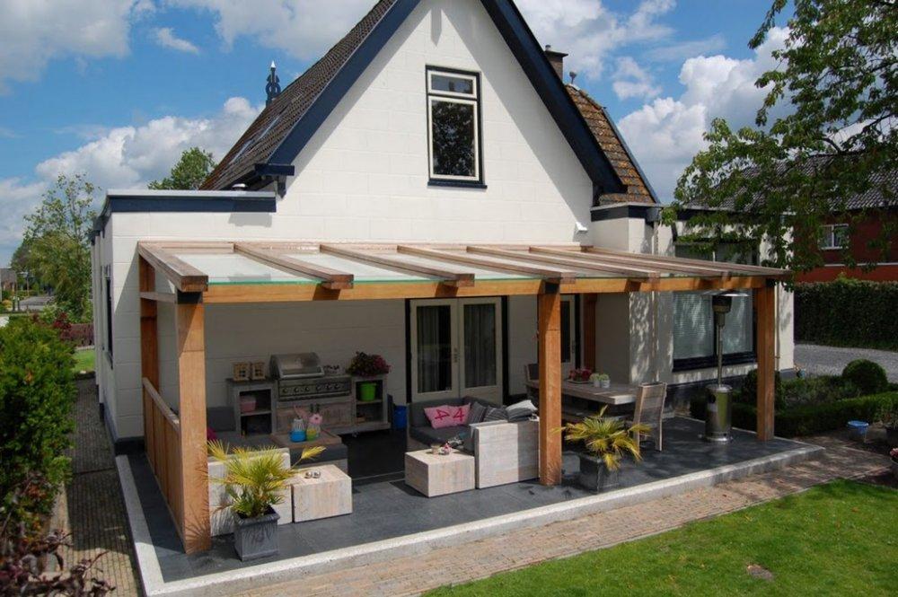 Jumbo terrasoverkapping hout product in beeld startpagina voor tuin idee n uw - Overdekt terras in aluminium ...