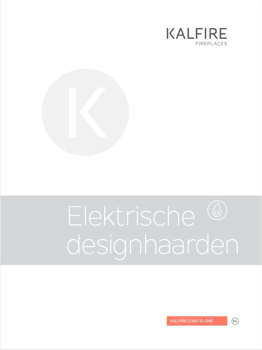 Kalfire E-one elektrische designhaard | brochure