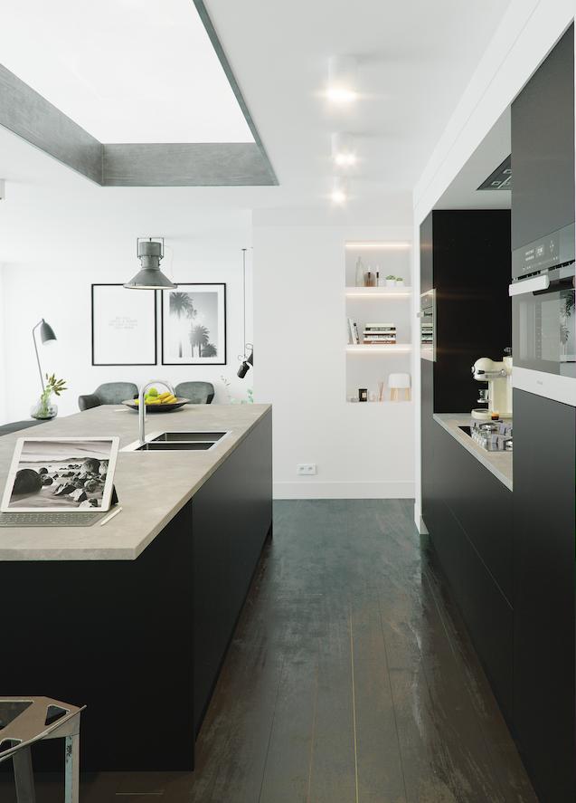 Zwarte Keuken Met Tip On Keller Keukens Uw Keukennl