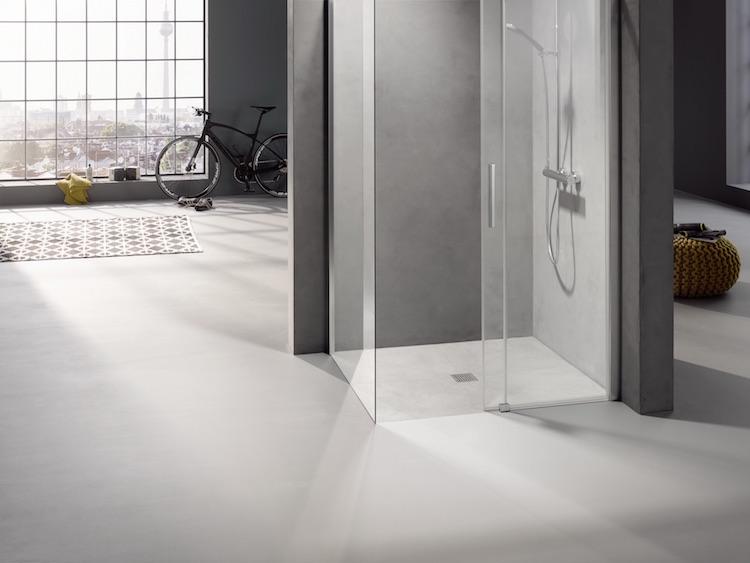Badkamer Douche Vloeren : Douche vloer met passend scherm product in beeld badkamer