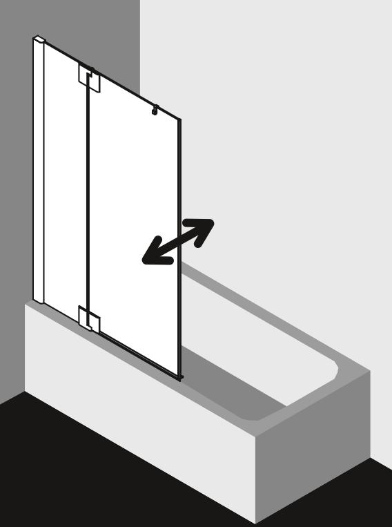 kermi pasa xp bad draaiwand met vast segment product in beeld startpagina voor badkamer. Black Bedroom Furniture Sets. Home Design Ideas