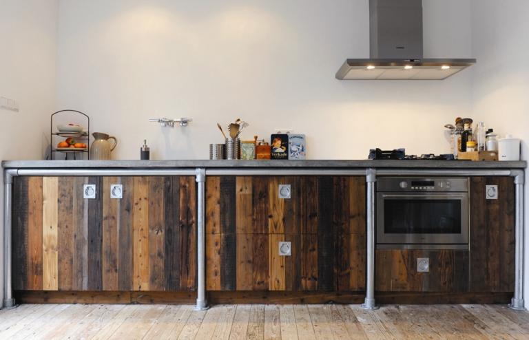 Keuken van sloophout ~ referenties op huis ontwerp interieur
