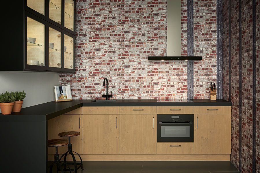 Keukenwerkbladen in moderne keuken