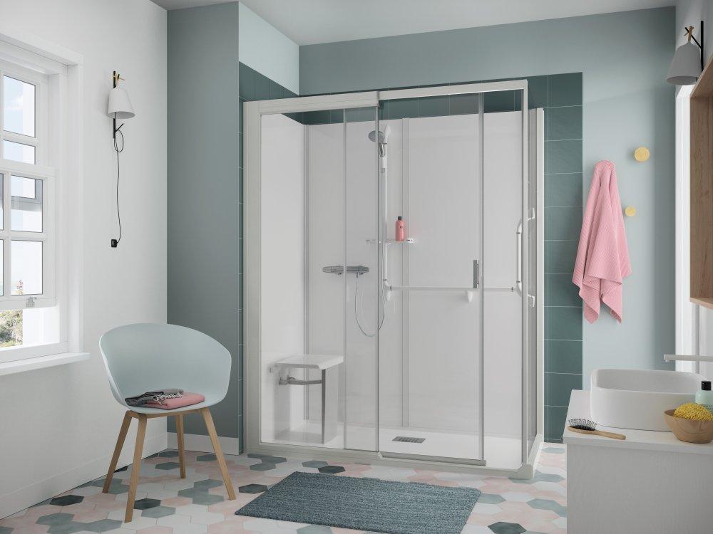 Een Veilige Badkamer : Kinemagic de veilige en ruime inloopdouche product in beeld