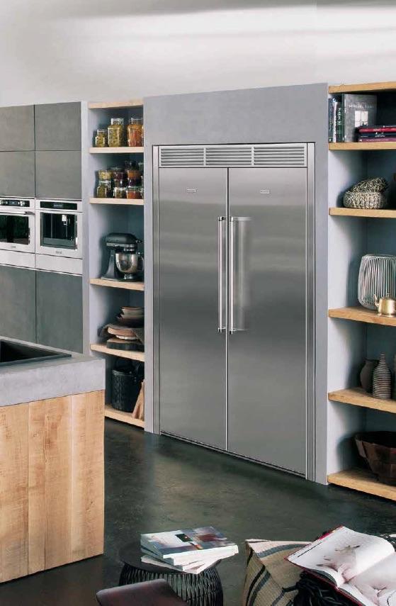 KitchenAid Europese side-by-side koel-vriescombinatie