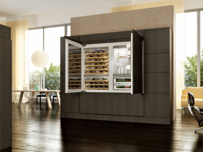 kitchenaid vertigo koelkast en wijnkoeler product in beeld startpagina voor keuken idee n. Black Bedroom Furniture Sets. Home Design Ideas
