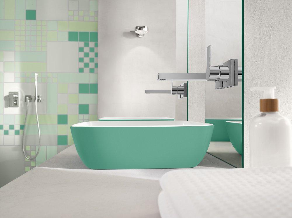 Villeroy boch wastafels artis color product in beeld startpagina voor badkamer idee n uw - Badkamer tegel helderwit ...