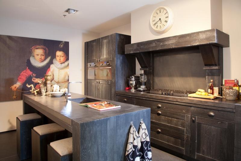 Blauwe Keuken Bruynzeel : Keuken Blauw : Giethoorn, een van de Landelijke keukens van Bruynzeel